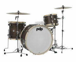Pdp Concept Classic Series 3-piece Maple Shell Pack - Walnut With Natural Hoops