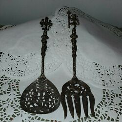 Vintage Ugo Bellini Serving Spoon And Fork Italy