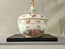 Antique Berlin Porcelain Covered Tureen Excellent Condition 10.5and039and039 W By 12and039and039 T