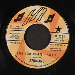 Africano Open Your Hearts / Part 2 Hi Records 7 Single 45 Rpm