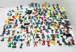 Vtg 50andrsquos Toy Lot Cowboys Indians Soldiers Figures Louis Marx Tim Tee Lido Mpc