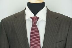 Canali Recent Brown Label Gray Pinstriped 100 Wool 2 Piece Suit Sz 38r Mint