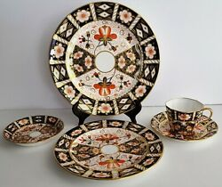 Royal Crown Derby 2451 Traditional Imari 5 Piece Place Setting Beautiful
