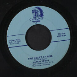 Marion Worth Are You Willing Willie / This Heart Of Mine Cherokee 7 Single