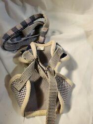 Small bow tie Plaid dog harness with leash easy on and off