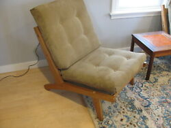Vintage Hans Wegner Getama Ge-370 Low Back Lounge Chair Oak Orig Finish