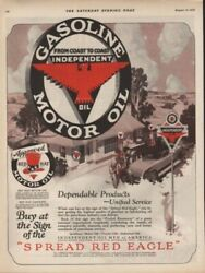 1926 Independent Oil Gasoline Service Station Auto Ad7725