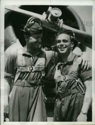 1941 Press Photo Cadet Miles A Werne And Walter G.rishel Trains At Brooks Field