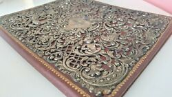 Black Starr And Frost Sterling Silver Over Sized Cover Huge Rare Blank Diary