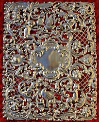 Black Starr And Frost Sterling Silver Over Sized Bible Cover Huge Rare Rare Bible