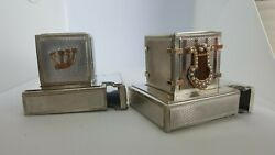 Judaica Art Made Of Solid 14k Yellow Gold And 925 Sterling Silver Vintage