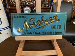 Northern Beer Tin Over Cardboard 13 Advertising Sign  Watch Video