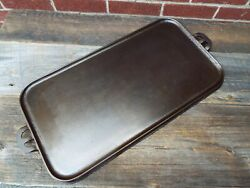 Early Foundry Dickson Pa Cast Iron 11 Long Griddle, Restored