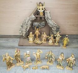 Vintage Fontanini Nativity Depose 5in 1983 Spider Mark 20 Piece Lot Set Italy