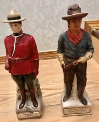 Collectible Decanters Andldquosoldiersandrdquo Lionstone And Canadian Rare