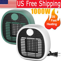 1000w Portable Ceramic Electric Space Heater With Auto Shutoff Home Thermostat