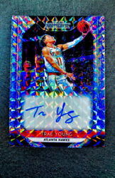 Rare High End 2018-19 Trae Young Panini Prizm Mosaic Silver Auto Rookie Card🌟
