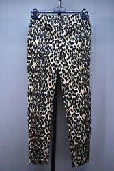 Lisette L Montreal Meco Thinny Leopard Pants, Women's Size 2, Brown/black New