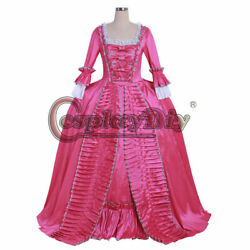 18th Century Marie Antoinette Colonial Rococo Ball Gown Sack Back Dress Costume