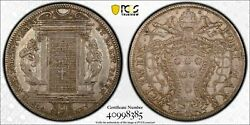 Italian States-papal States Clement X Silver Piastra Scudo Pcgs Xf Detail Tooled