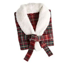 New Pottery Barn Lynbrook Cotton Belted Christmas Plaid Robe Pockets Size 2xl