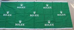 Rare Rolex Crown Watch Dealer Employee Cloth Banner Poster 95x37 Green And White