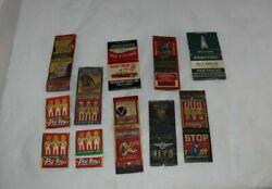 Lot Of 11 Car Automobile Related Matchbook Covers Strauss Pep Boys Pontiac Olds