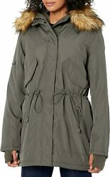 S13 Womenand039s Luxe Canyon Lined Parka With Faux Fur Hood