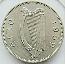 1959 Ireland Republic 6 Pence Grading About Uncirculated.