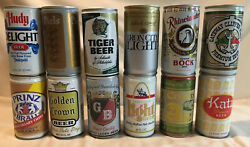 Lot Of 12 Vintage 12oz Beer Cans Schmidts Iron City Katz Piels 905 Printz