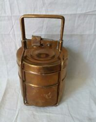 Vintage Tiffin Brass Lunch Boxes