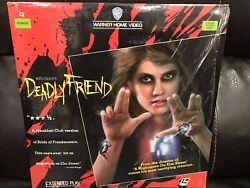 Deadly Friend - 1986 Rare Laserdisc Wes Craven Extended Play Horror Movie, Ln