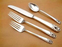 Spring Glory By International Sterling Silver Single 4 Piece Place Setting