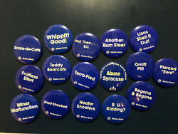 Large Penn State Nittany Lions Mellon Bank Football Button Lot Of 16