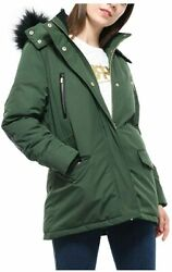 Rokkaandrolla Womenand039s Warm Winter Parka Coat Anorak Puffer Jacket With Removable F
