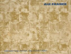 C1960s Aviation Vintage Air France Airlines Route Map Booklet
