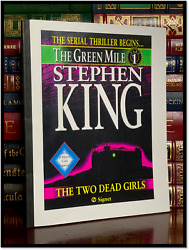 The Green Mile Manuscript ✎signed✎ By Stephen King Prize Winner Very Limited 1/6