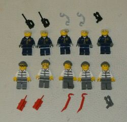 Lego Bundle 10x Character Figurine Minifig - Police Officer + Bandit Thief