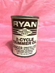 Vintage Ryan 2-cycle Motor Oil Can Rare Trimmer Oil New Full Can