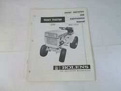Bolens Model 1256-01 Husky 1256 Tractor Owner's Operation And Maintenance Manual