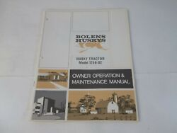 Bolens Model 1256-02 Husky 1256 Tractor Owner's Operation And Maintenance Manual