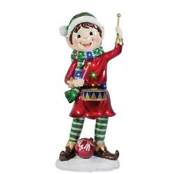 Outdoor Elf - Christmas Holiday Decoration And Ornaments - Led 3' Pixie Elf W Drum