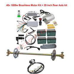 Go Kart Cart Rear Axle Kit And Brushless 48v 1800w Electric Motor Controller Set