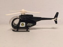 Vintage 1980s Chips Tv Highway Patrol Toy Diecast Metal Helicopter Imperial Toys