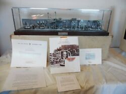 Rare Franklin Mint 1913 Ford Model T Assembly Line Pewter W/ Glass Cover And Coa