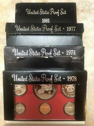 Lot Of Proof Sets 1974 - 2009 See Description For Inventory - Us Mint Coins