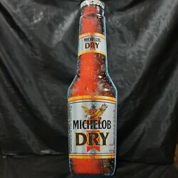 Michelob Dry Bottle Tin Metal Sign - 8.5x30 Big - Beer Advertising - Man Cave