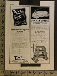 1935 Toy Ad Disney Mickey Mouse Streamline Wagon Desoto Dayton Scooter Pedalth97