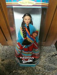 Doll Of The World 1998 Peruvian Barbie Stunning Doll With Baby Pristine Mint