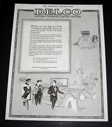1915 Old Magazine Print Ad Delco Systems Electric-cranking-lighting Ignition